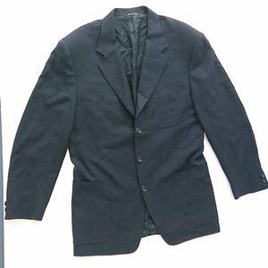 Canali 100% Wool Blazer Navy Blue Size 48R